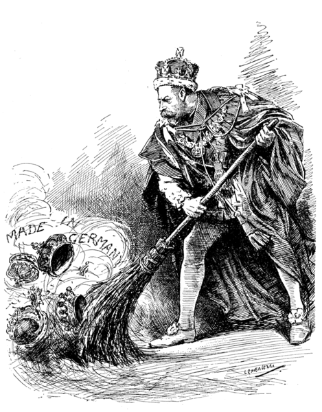469px-A Good Riddance King George V cartoon in Punch 1917